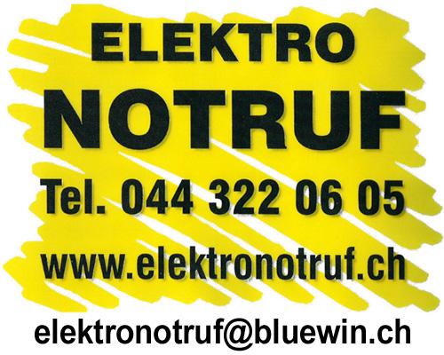 24h Service, 24h Notfall Elektriker Zürich, Pikettdienst, Elektro ...